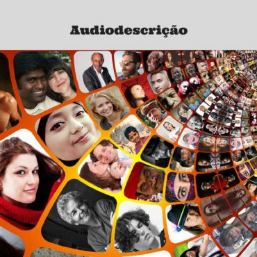 Imagem de várias fotos coloridas de rostos de pessoas