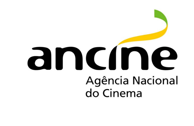 Logo da Ancine com os escritos: Ancine Agência Nacional de Cinema